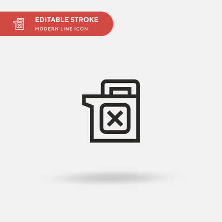 Fuel Simple vector icon. Illustration symbol design template for web mobile UI element. Perfect color modern pictogram on editable stroke. Fuel icons for your business project
