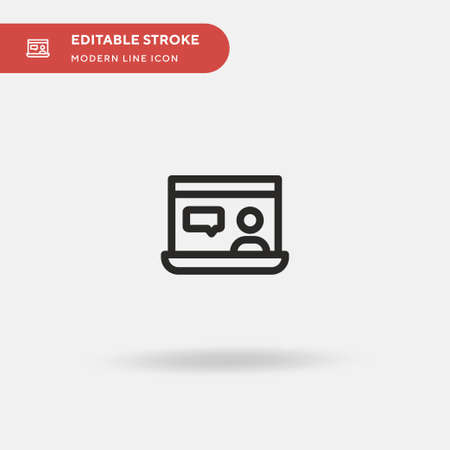Online Class Simple vector icon. Illustration symbol design template for web mobile UI element. Perfect color modern pictogram on editable stroke. Online Class icons for your business project