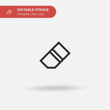 Eraser Simple vector icon. Illustration symbol design template for web mobile UI element. Perfect color modern pictogram on editable stroke. Eraser icons for your business project Illusztráció