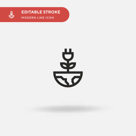 Green Energy Simple vector icon. Illustration symbol design template for web mobile UI element. Perfect color modern pictogram on editable stroke. Green Energy icons for your business project