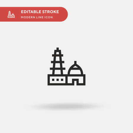 Qutub Simple vector icon. Illustration symbol design template for web mobile UI element. Perfect color modern pictogram on editable stroke. Qutub icons for your business project Vettoriali