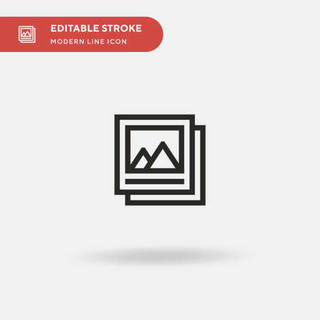Picture Simple vector icon. Illustration symbol design template for web mobile UI element. Perfect color modern pictogram on editable stroke. Picture icons for your business project Vectores