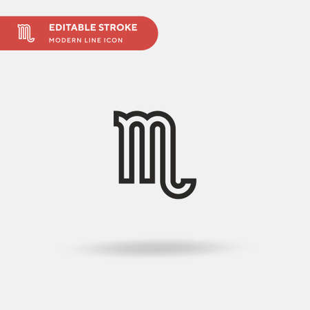 Scorpio Simple vector icon. Illustration symbol design template for web mobile UI element. Perfect color modern pictogram on editable stroke. Scorpio icons for your business project