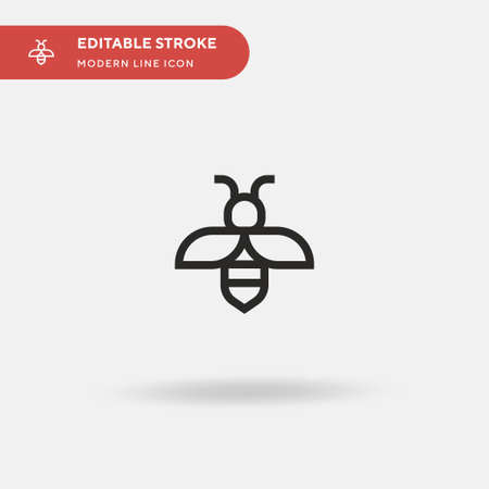 Bee Simple vector icon. Illustration symbol design template for web mobile UI element. Perfect color modern pictogram on editable stroke. Bee icons for your business project