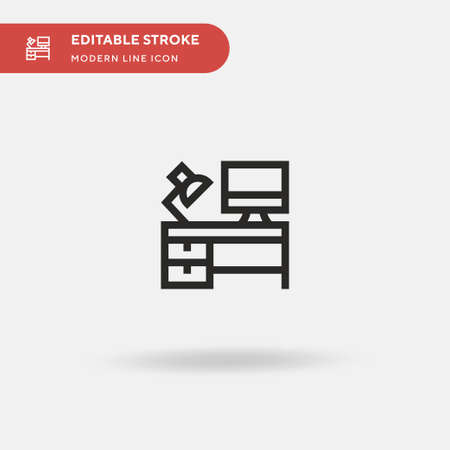 Workspace Simple vector icon. Illustration symbol design template for web mobile UI element. Perfect color modern pictogram on editable stroke. Workspace icons for your business project