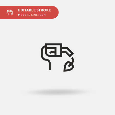 Biofuel Simple vector icon. Illustration symbol design template for web mobile UI element. Perfect color modern pictogram on editable stroke. Biofuel icons for your business project Stock Illustratie