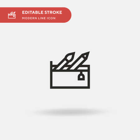 School Material Simple vector icon. Illustration symbol design template for web mobile UI element. Perfect color modern pictogram on editable stroke. School Material icons for your business project Illusztráció