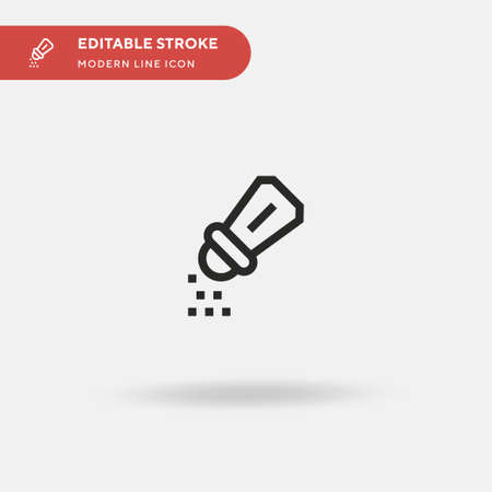 Salt Simple vector icon. Illustration symbol design template for web mobile UI element. Perfect color modern pictogram on editable stroke. Salt icons for your business project Ilustrace