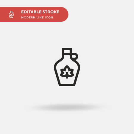 Maple Syrup Simple vector icon. Illustration symbol design template for web mobile UI element. Perfect color modern pictogram on editable stroke. Maple Syrup icons for your business project