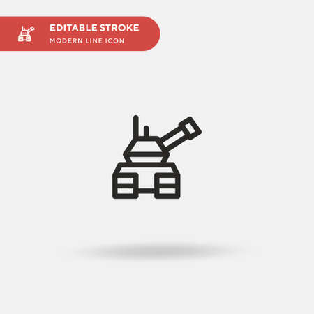 Tank Simple vector icon. Illustration symbol design template for web mobile UI element. Perfect color modern pictogram on editable stroke. Tank icons for your business project Stock Illustratie