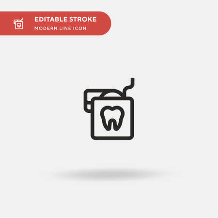 Dental Floss Simple vector icon. Illustration symbol design template for web mobile UI element. Perfect color modern pictogram on editable stroke. Dental Floss icons for your business project