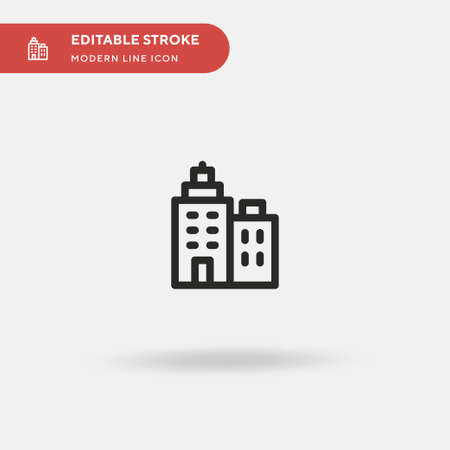 Office Building Simple vector icon. Illustration symbol design template for web mobile UI element. Perfect color modern pictogram on editable stroke. Office Building icons for your business project 矢量图像