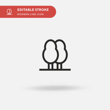 Trees Simple vector icon. Illustration symbol design template for web mobile UI element. Perfect color modern pictogram on editable stroke. Trees icons for your business project Banco de Imagens - 152748859
