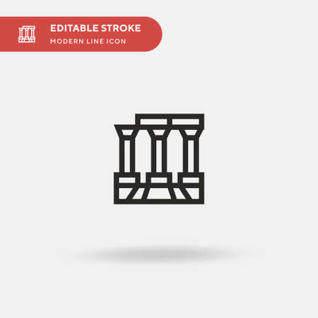 Temple Of Apollo Simple vector icon. Illustration symbol design template for web mobile UI element. Perfect color modern pictogram on editable stroke. Temple Of Apollo icons for your business project