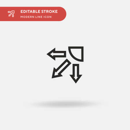 Swing Simple vector icon. Illustration symbol design template for web mobile UI element. Perfect color modern pictogram on editable stroke. Swing icons for your business project Vettoriali