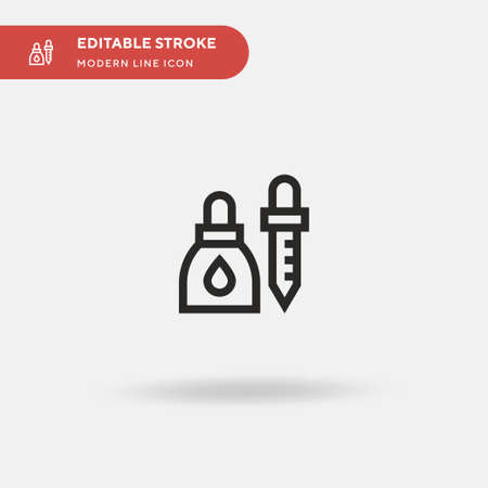 Eyedropper Simple vector icon. Illustration symbol design template for web mobile UI element. Perfect color modern pictogram on editable stroke. Eyedropper icons for your business project