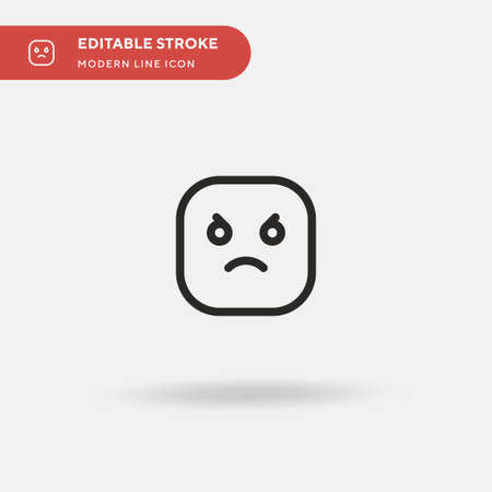 Angry Simple vector icon. Illustration symbol design template for web mobile UI element. Perfect color modern pictogram on editable stroke. Angry icons for your business project