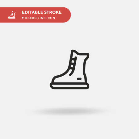 Boots Simple vector icon. Illustration symbol design template for web mobile UI element. Perfect color modern pictogram on editable stroke. Boots icons for your business project