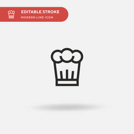 Chef Hat Simple vector icon. Illustration symbol design template for web mobile UI element. Perfect color modern pictogram on editable stroke. Chef Hat icons for your business project