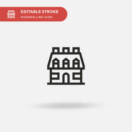 Building Simple vector icon. Illustration symbol design template for web mobile UI element. Perfect color modern pictogram on editable stroke. Building icons for your business project 矢量图像