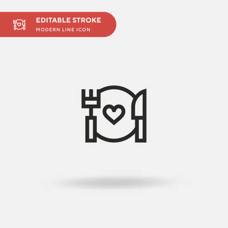 Food Simple vector icon. Illustration symbol design template for web mobile UI element. Perfect color modern pictogram on editable stroke. Food icons for your business project