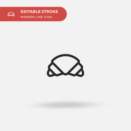 Croissant Simple vector icon. Illustration symbol design template for web mobile UI element. Perfect color modern pictogram on editable stroke. Croissant icons for your business project 向量圖像