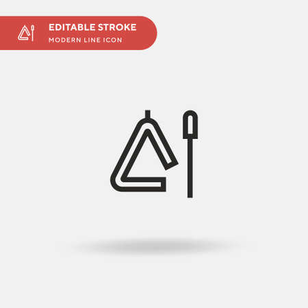 Triangle Simple vector icon. Illustration symbol design template for web mobile UI element. Perfect color modern pictogram on editable stroke. Triangle icons for your business project