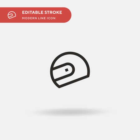 Helmet Simple vector icon. Illustration symbol design template for web mobile UI element. Perfect color modern pictogram on editable stroke. Helmet icons for your business project Ilustracja