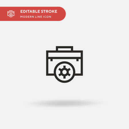 Briefcase Simple vector icon. Illustration symbol design template for web mobile UI element. Perfect color modern pictogram on editable stroke. Briefcase icons for your business project