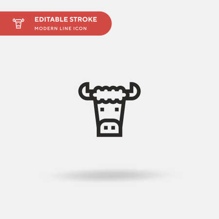 Buffalo Simple vector icon. Illustration symbol design template for web mobile UI element. Perfect color modern pictogram on editable stroke. Buffalo icons for your business project