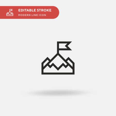 Achievement Simple vector icon. Illustration symbol design template for web mobile UI element. Perfect color modern pictogram on editable stroke. Achievement icons for your business project Ilustração
