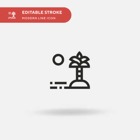 Oasis Simple vector icon. Illustration symbol design template for web mobile UI element. Perfect color modern pictogram on editable stroke. Oasis icons for your business project