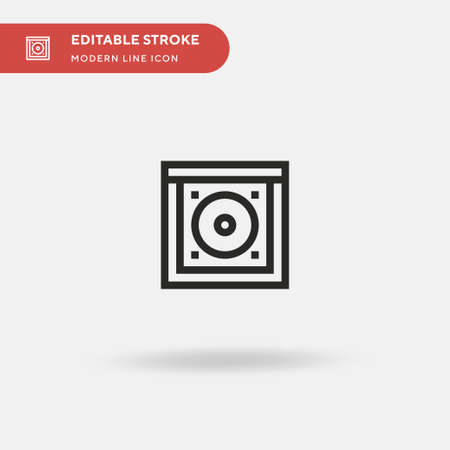 Cd Simple vector icon. Illustration symbol design template for web mobile UI element. Perfect color modern pictogram on editable stroke. Cd icons for your business project Vector Illustratie