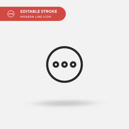 More Simple vector icon. Illustration symbol design template for web mobile UI element. Perfect color modern pictogram on editable stroke. More icons for your business project