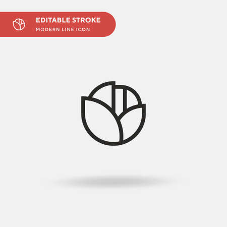 Lettuce Simple vector icon. Illustration symbol design template for web mobile UI element. Perfect color modern pictogram on editable stroke. Lettuce icons for your business project Stock Illustratie