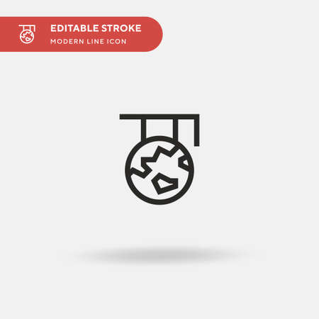 Global Learning Simple vector icon. Illustration symbol design template for web mobile UI element. Perfect color modern pictogram on editable stroke. Global Learning icons for your business project