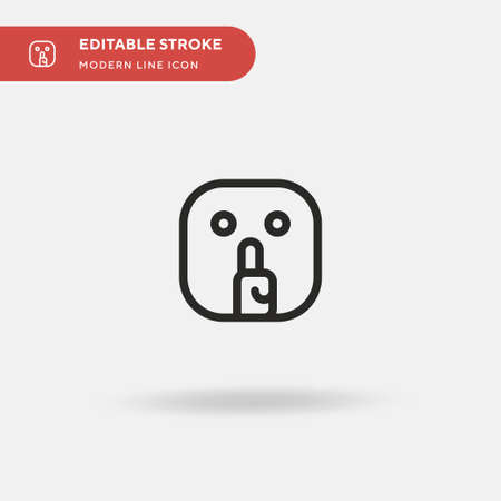 Silence Simple vector icon. Illustration symbol design template for web mobile UI element. Perfect color modern pictogram on editable stroke. Silence icons for your business project