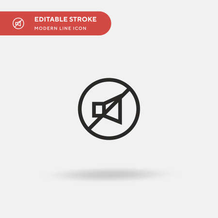 Mute Simple vector icon. Illustration symbol design template for web mobile UI element. Perfect color modern pictogram on editable stroke. Mute icons for your business project