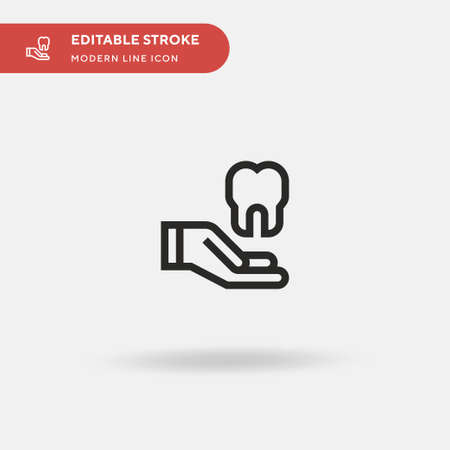 Dental Insurance Simple vector icon. Illustration symbol design template for web mobile UI element. Perfect color modern pictogram on editable stroke. Dental Insurance icons for your business project