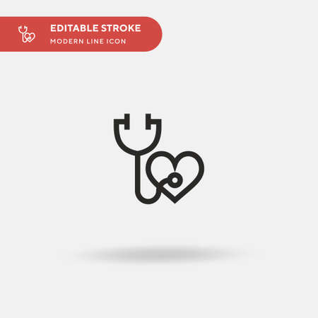 Stethoscope Simple vector icon. Illustration symbol design template for web mobile UI element. Perfect color modern pictogram on editable stroke. Stethoscope icons for your business project