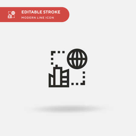Syncronization Simple vector icon. Illustration symbol design template for web mobile UI element. Perfect color modern pictogram on editable stroke. Syncronization icons for your business project