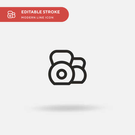 Kettlebell Simple vector icon. Illustration symbol design template for web mobile UI element. Perfect color modern pictogram on editable stroke. Kettlebell icons for your business project