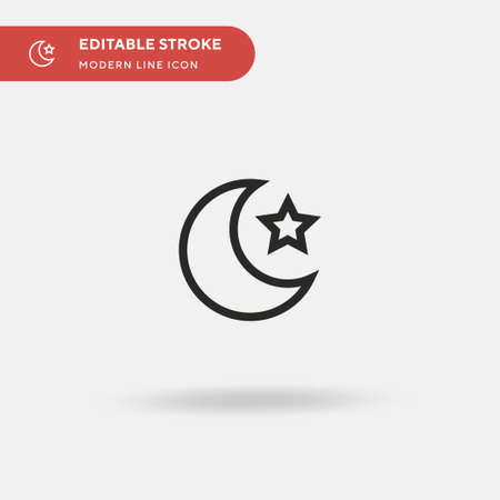 Islam Simple vector icon. Illustration symbol design template for web mobile UI element. Perfect color modern pictogram on editable stroke. Islam icons for your business project 矢量图像