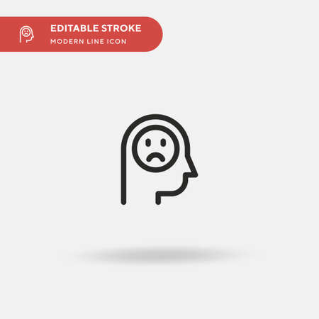 Sad Simple vector icon. Illustration symbol design template for web mobile UI element. Perfect color modern pictogram on editable stroke. Sad icons for your business project Illustration