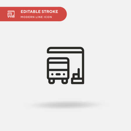 Bus Stop Simple vector icon. Illustration symbol design template for web mobile UI element. Perfect color modern pictogram on editable stroke. Bus Stop icons for your business project Illusztráció