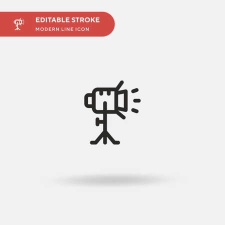 Spotlight Simple vector icon. Illustration symbol design template for web mobile UI element. Perfect color modern pictogram on editable stroke. Spotlight icons for your business project 矢量图像