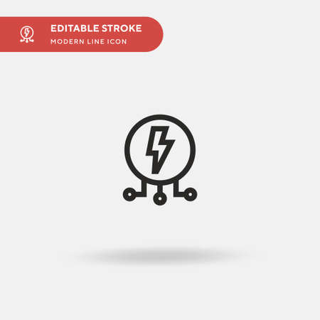 Electricity Simple vector icon. Illustration symbol design template for web mobile UI element. Perfect color modern pictogram on editable stroke. Electricity icons for your business project