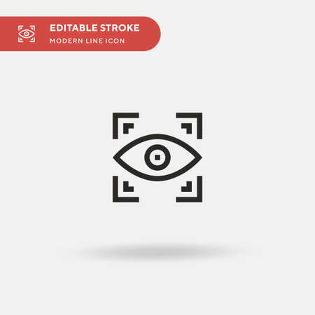 Eye Scanner Simple vector icon. Illustration symbol design template for web mobile UI element. Perfect color modern pictogram on editable stroke. Eye Scanner icons for your business project
