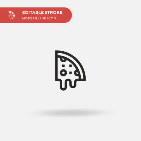 Pizza Slice Simple vector icon. Illustration symbol design template for web mobile UI element. Perfect color modern pictogram on editable stroke. Pizza Slice icons for your business project Ilustracja