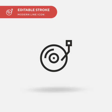 Dj Simple vector icon. Illustration symbol design template for web mobile UI element. Perfect color modern pictogram on editable stroke. Dj icons for your business project